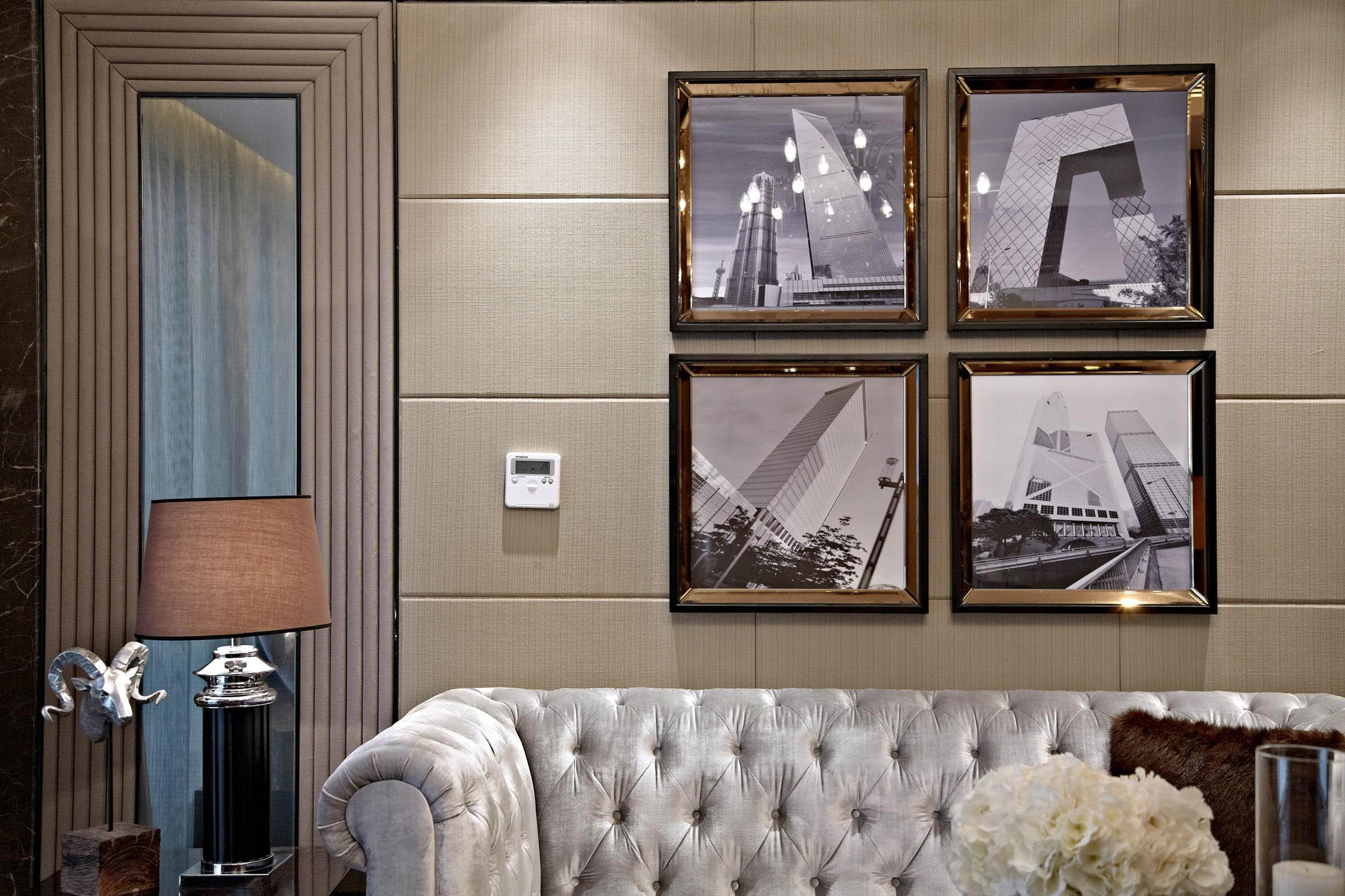 后现代欧式样板房装修沙发背景墙图片
