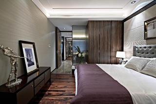 后现代欧式样板房装修卧室效果图