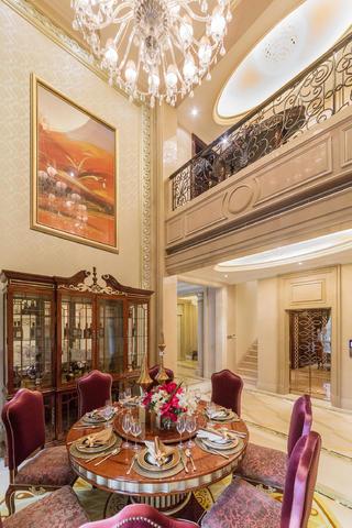 欧式古典奢华别墅装修餐厅效果图