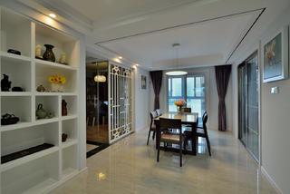 三居室现代中式家餐厅布局图