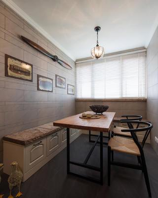 现代美式风格三居休闲区布置图