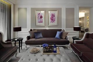 简欧别墅装修沙发背景墙图片