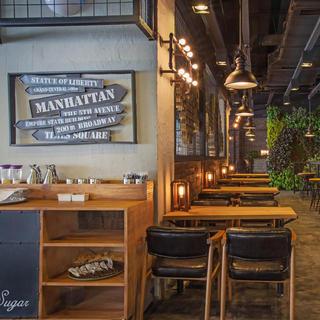 工业复古风咖啡馆装修设计图