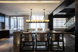 大户型中式装修餐厅效果图