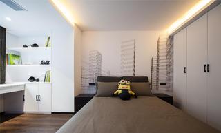 现代简约装修卧室设计图