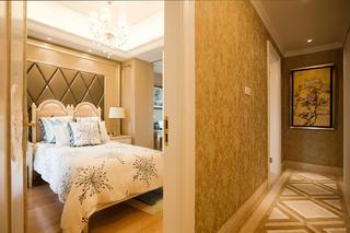 复式欧式样板间装修床头软包设计