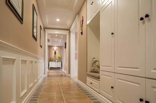 美式四居室装修玄关走廊