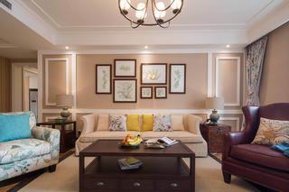 美式四居室装修沙发图片
