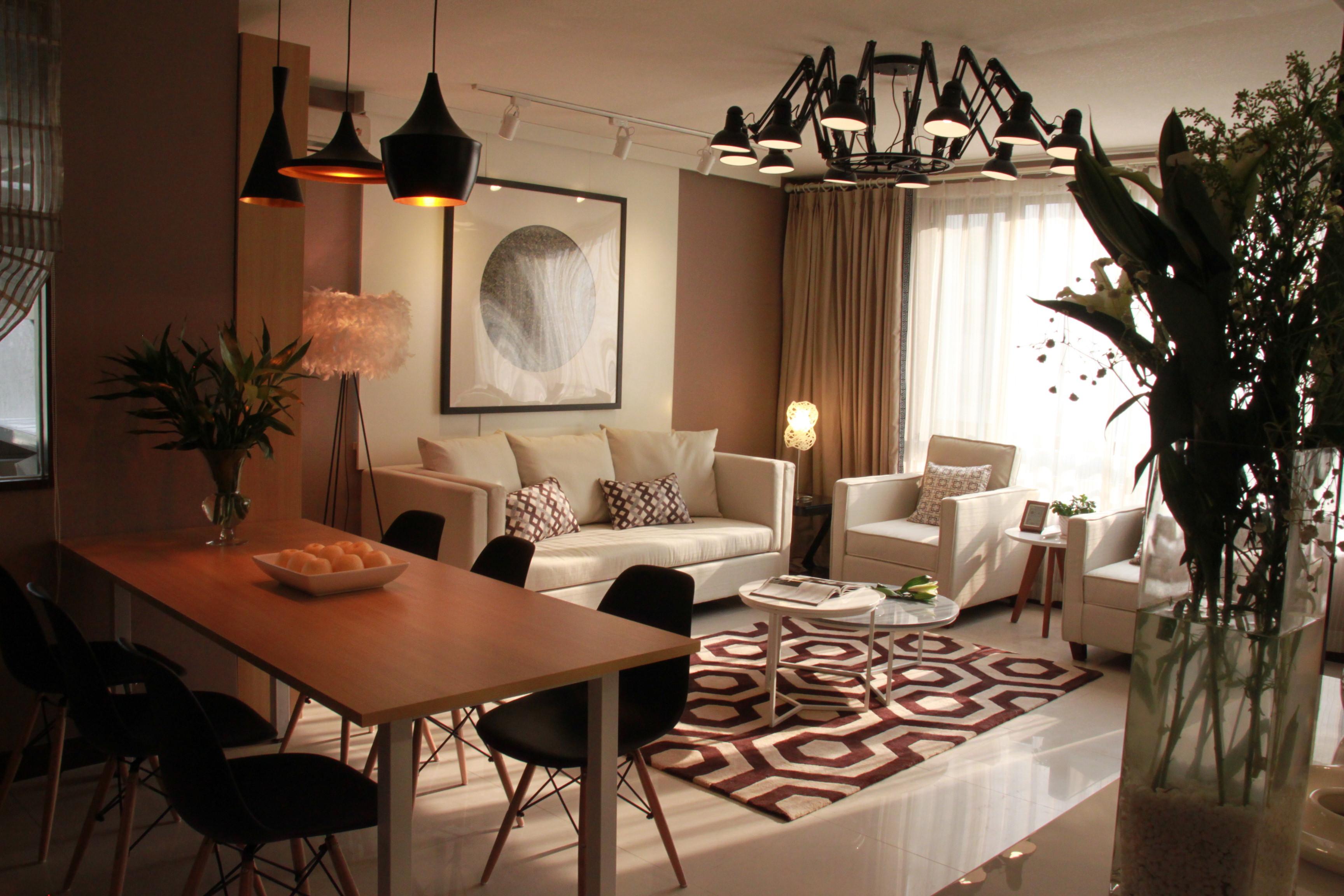 简约小户型一居室装修吊灯设计