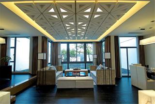 现代中式别墅装修客厅客厅设计图