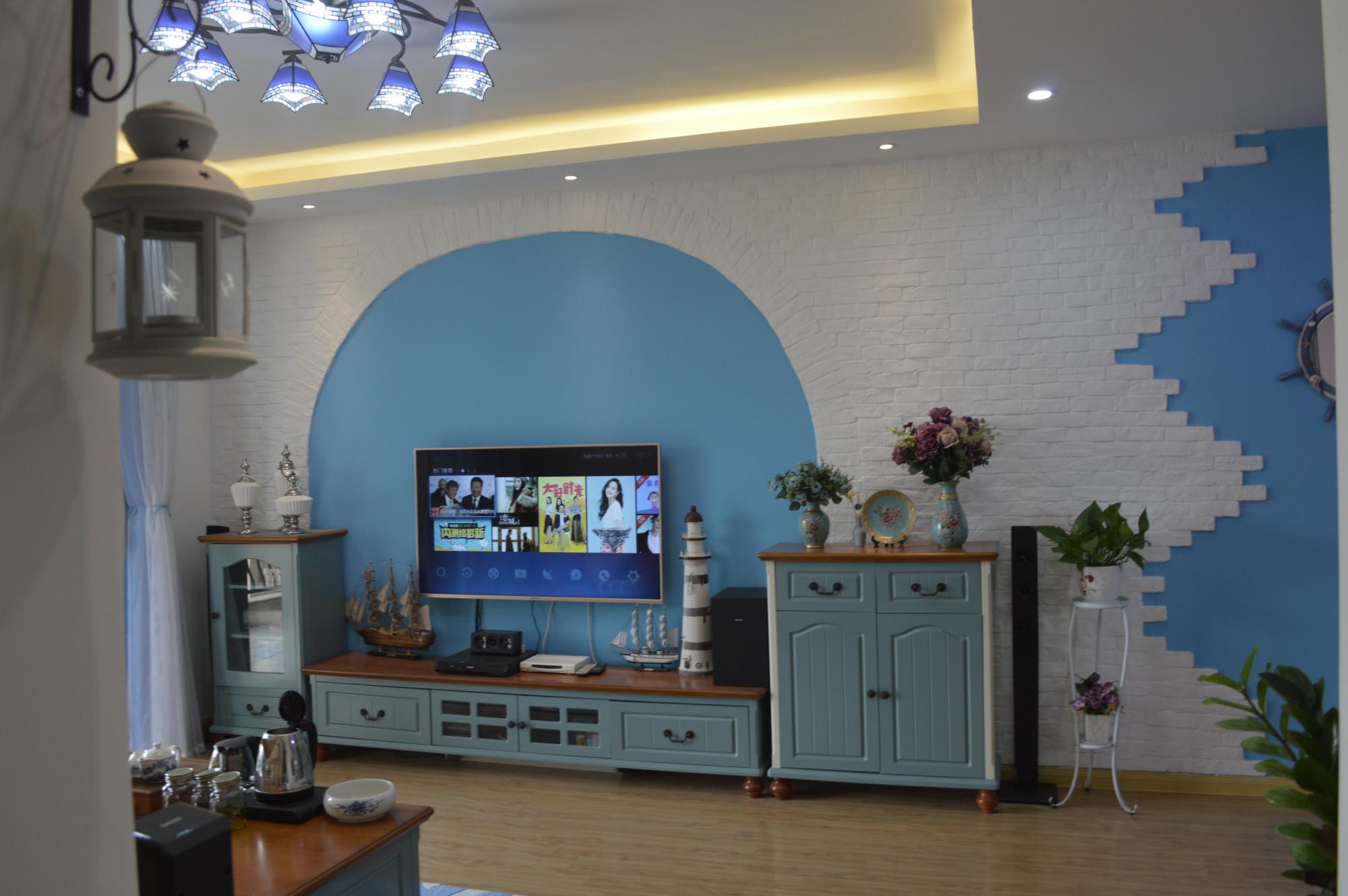 三居室地中海风格家电视背景墙设计