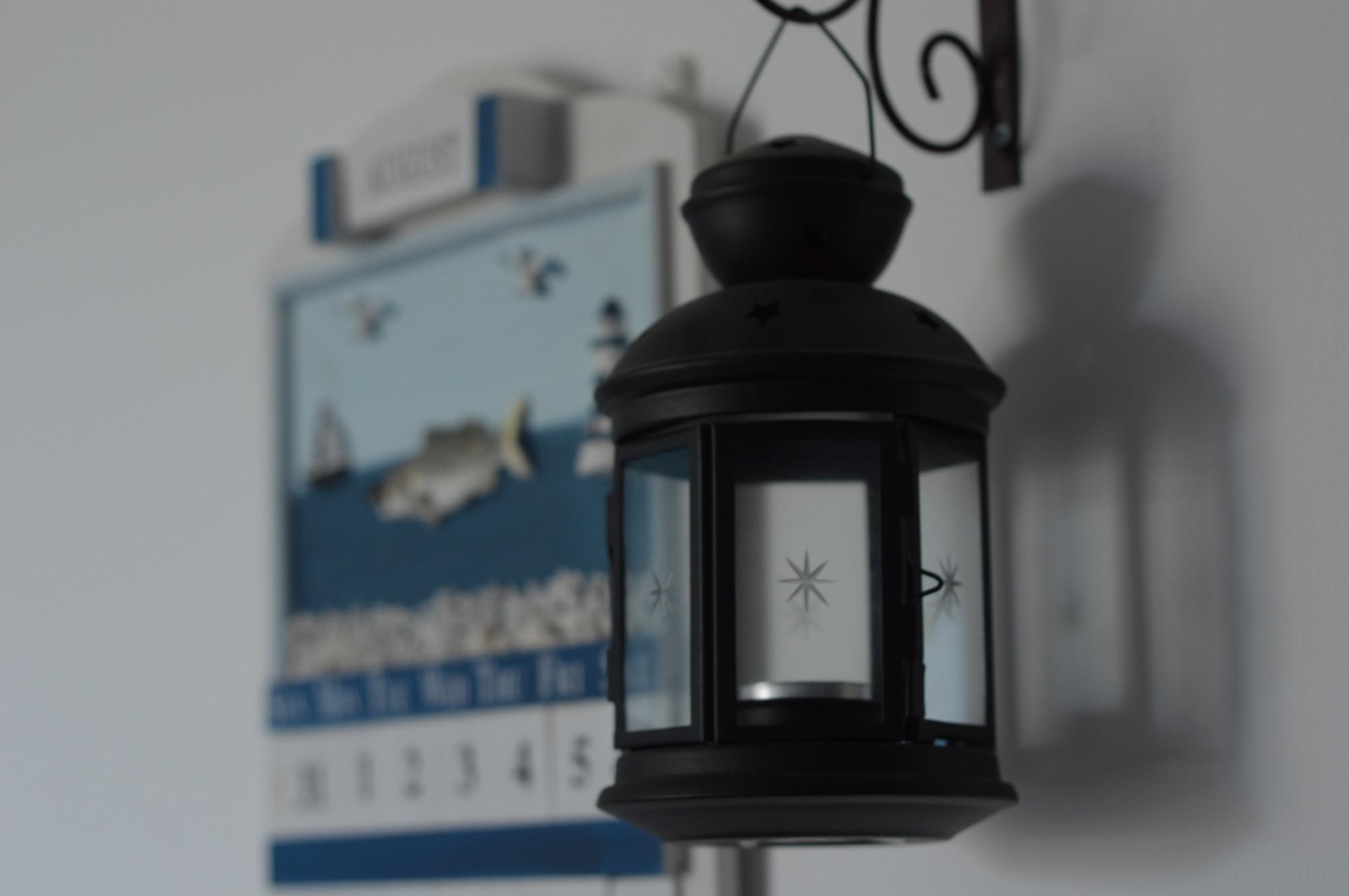 三居室地中海风格家铁艺灯饰特写