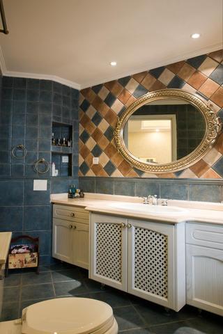 新古典美式混搭三居装修浴室柜图片