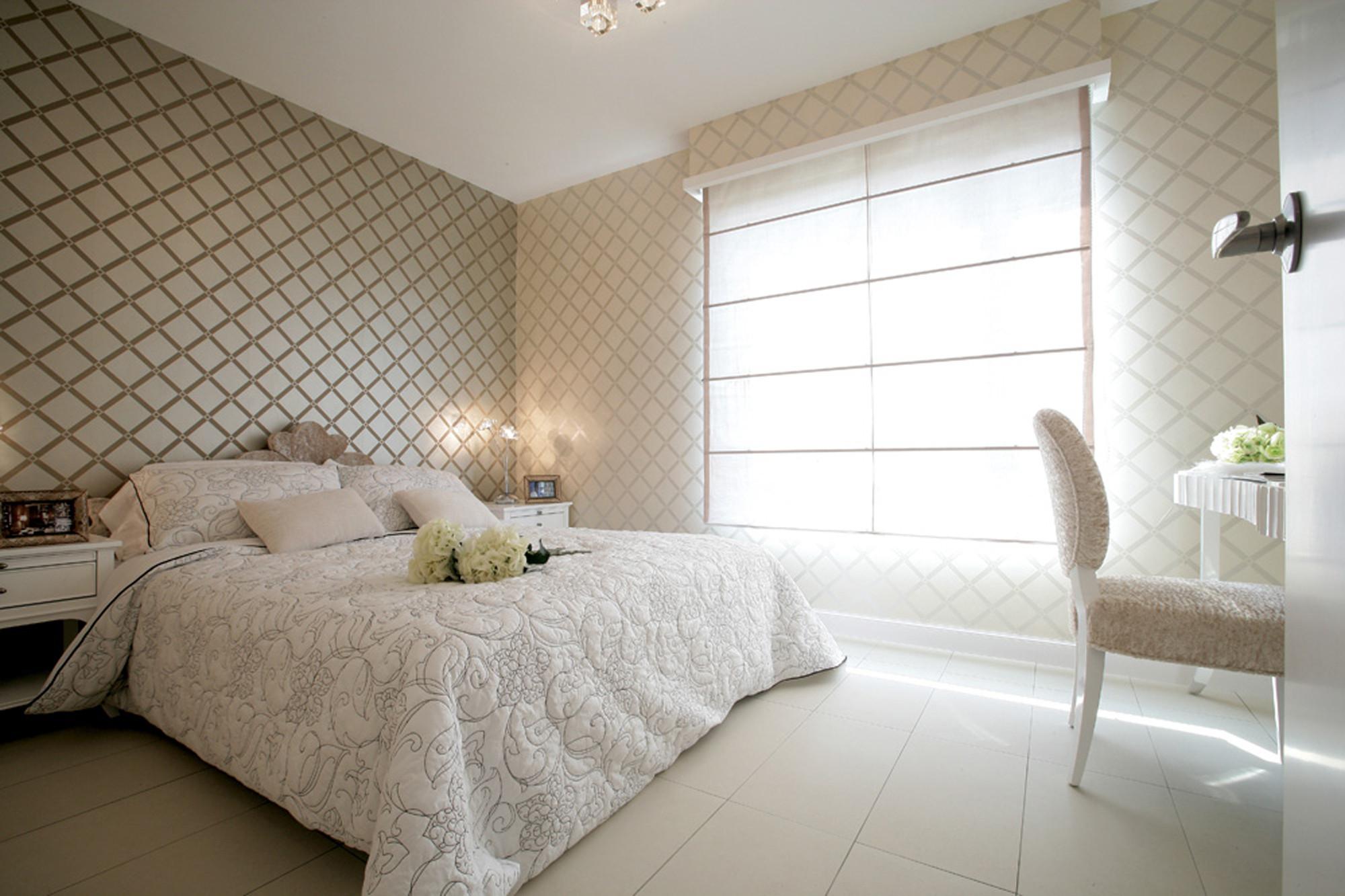 现代简约风三居卧室效果图