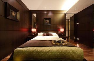 大户型复式中式装修卧室背景墙图片