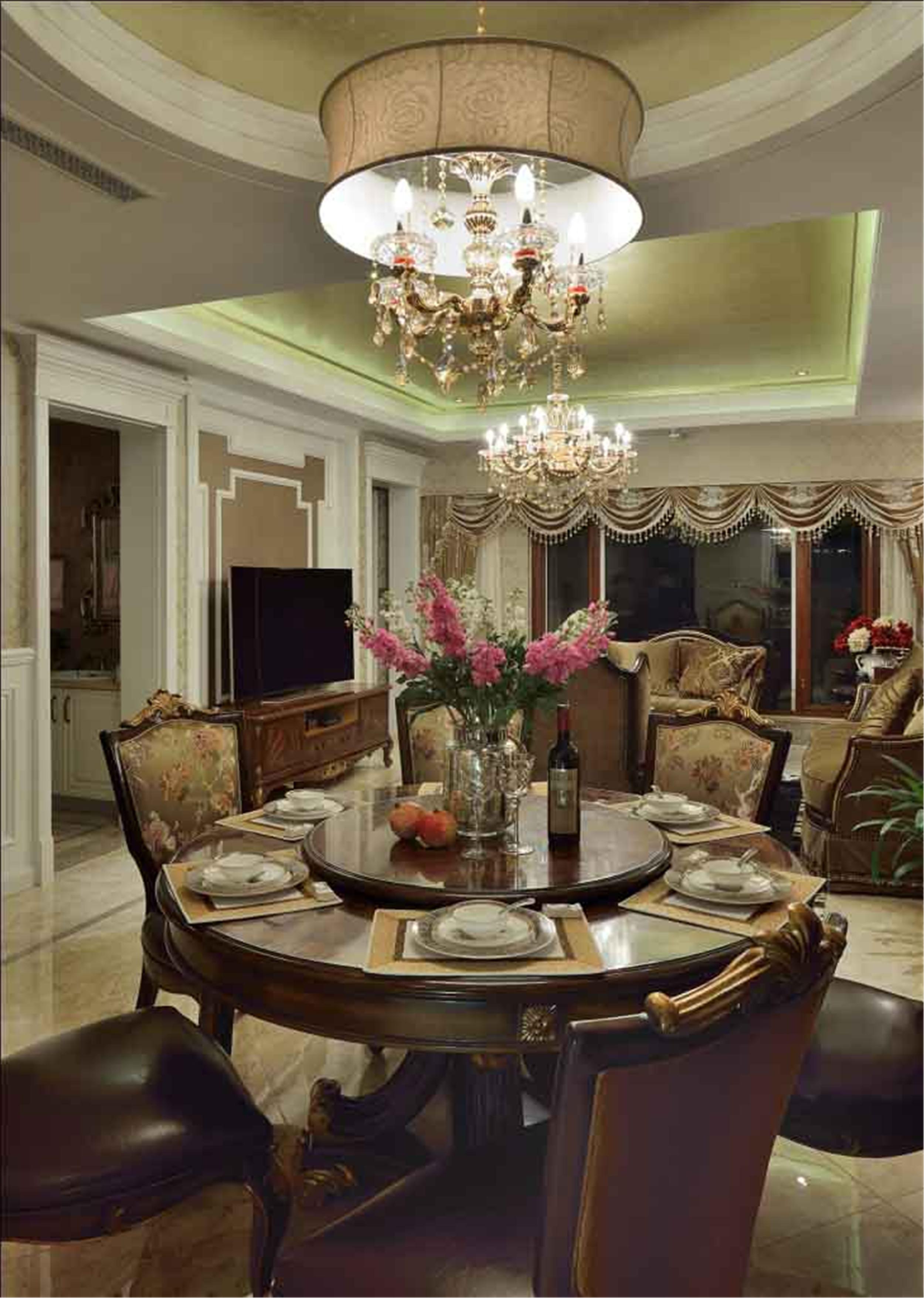 高雅奢华欧式别墅装修餐厅设计图