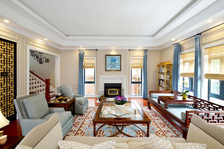 中西混搭别墅设计客厅效果图