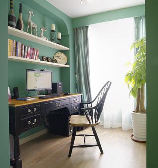 美式二居空间书房布置图