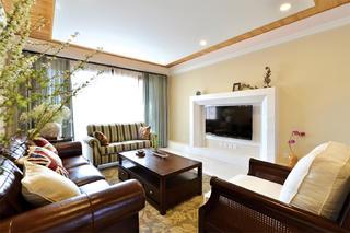 二居室美式混搭风格家电视墙设计