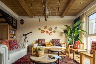 180平混搭装修沙发背景墙图片
