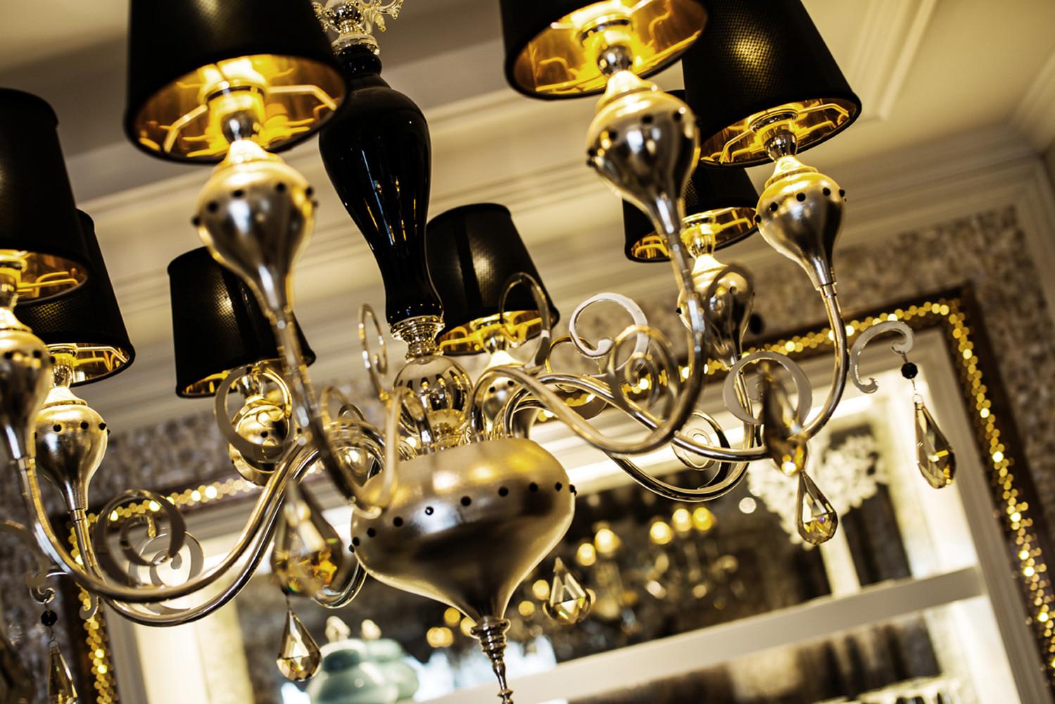 140平欧式装修吊灯图片