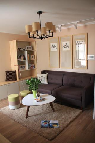 小户型简约装修沙发背景墙图片