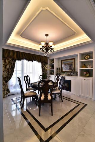 新古典风格三居室装修餐厅设计图