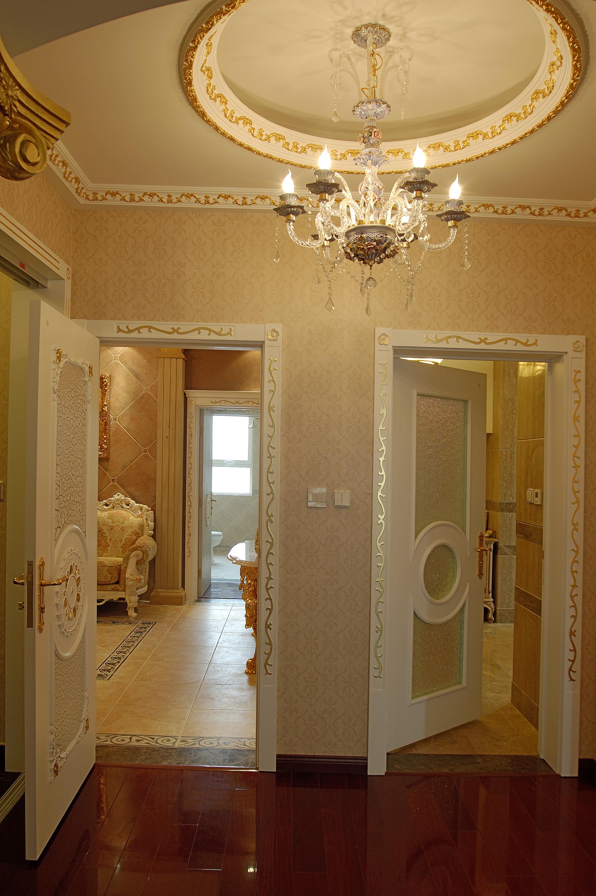 欧式奢华风格别墅装修卧室门厅