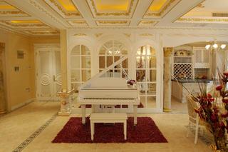 欧式奢华风格别墅装修钢琴区