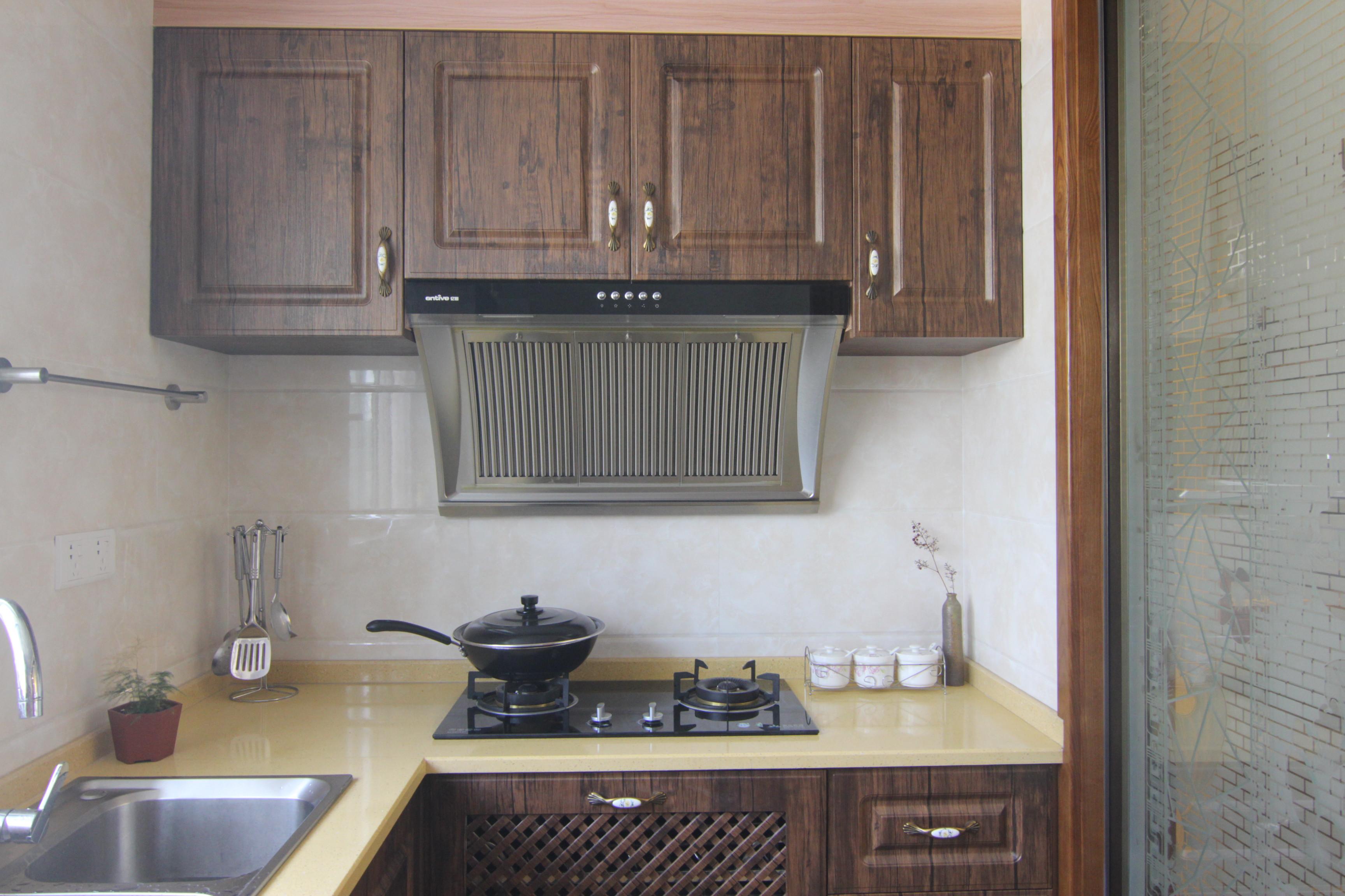 混搭三居装修厨房实景图