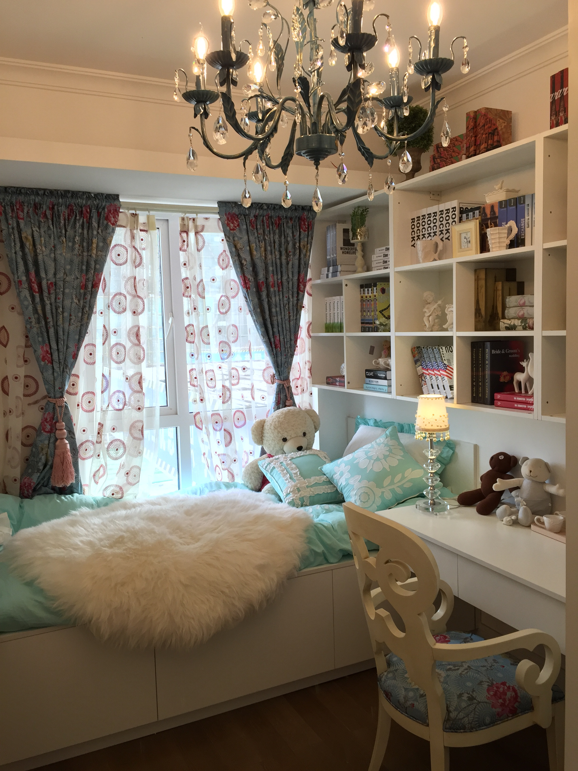 100平三居室装修儿童房实景图