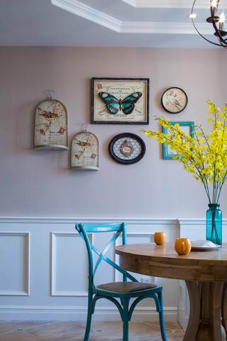 美式四居室装修餐厅背景墙图片