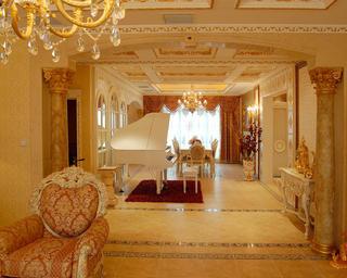 欧式奢华风格别墅装修门厅装潢图