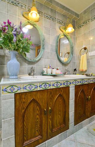 田园别墅装修洗手台图片