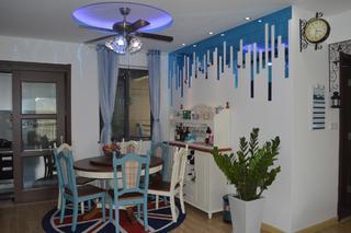 三居室地中海风格家餐厅背景墙设计