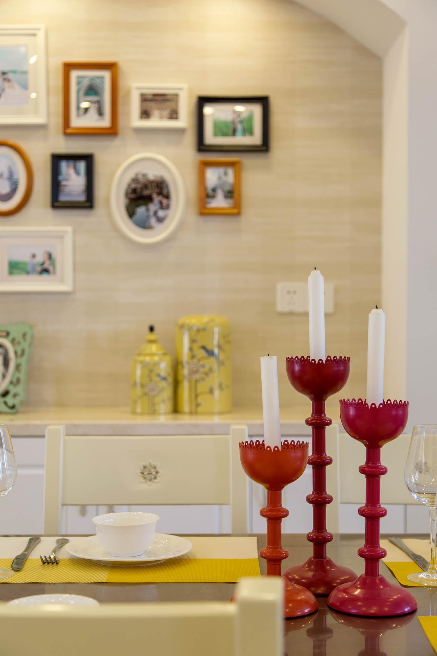 130平现代美式家烛台摆件