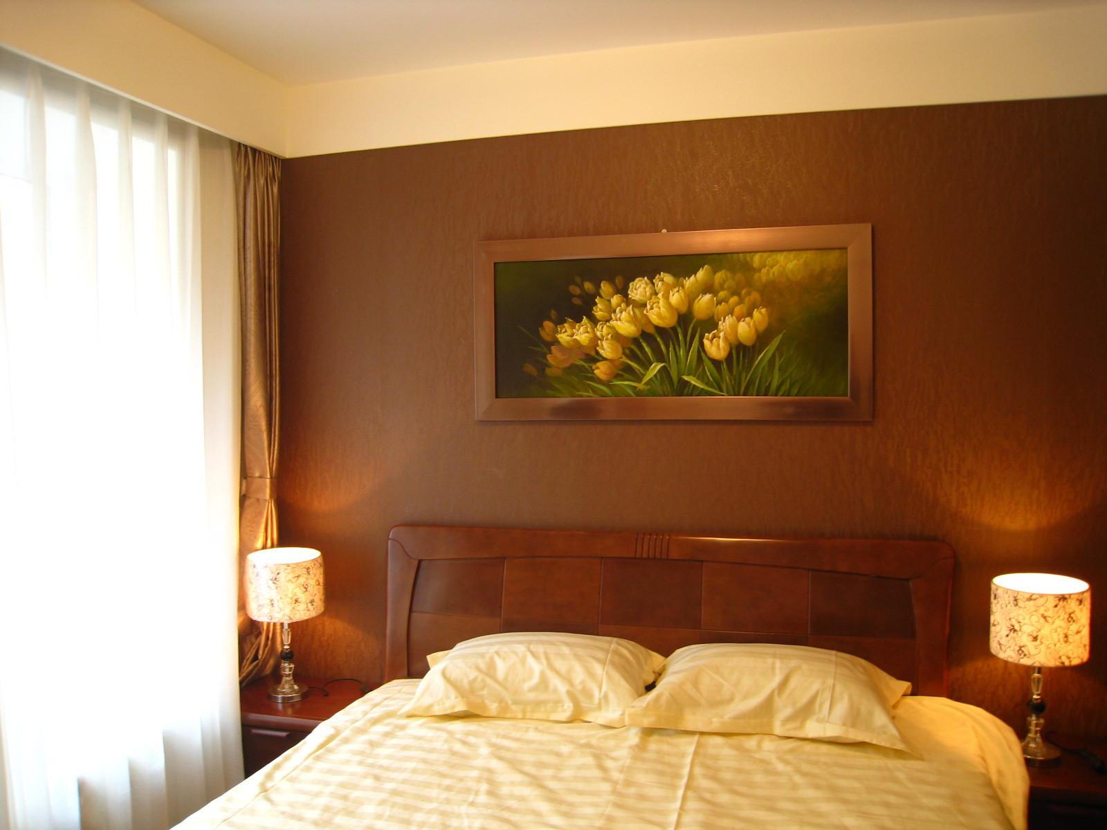 小户型现代简约装修卧室背景墙图片