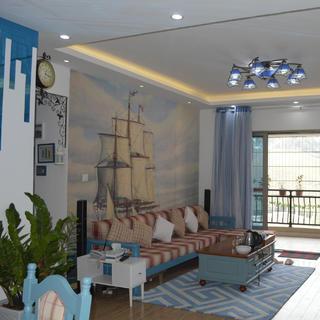 三居室地中海风格家 清新海洋风