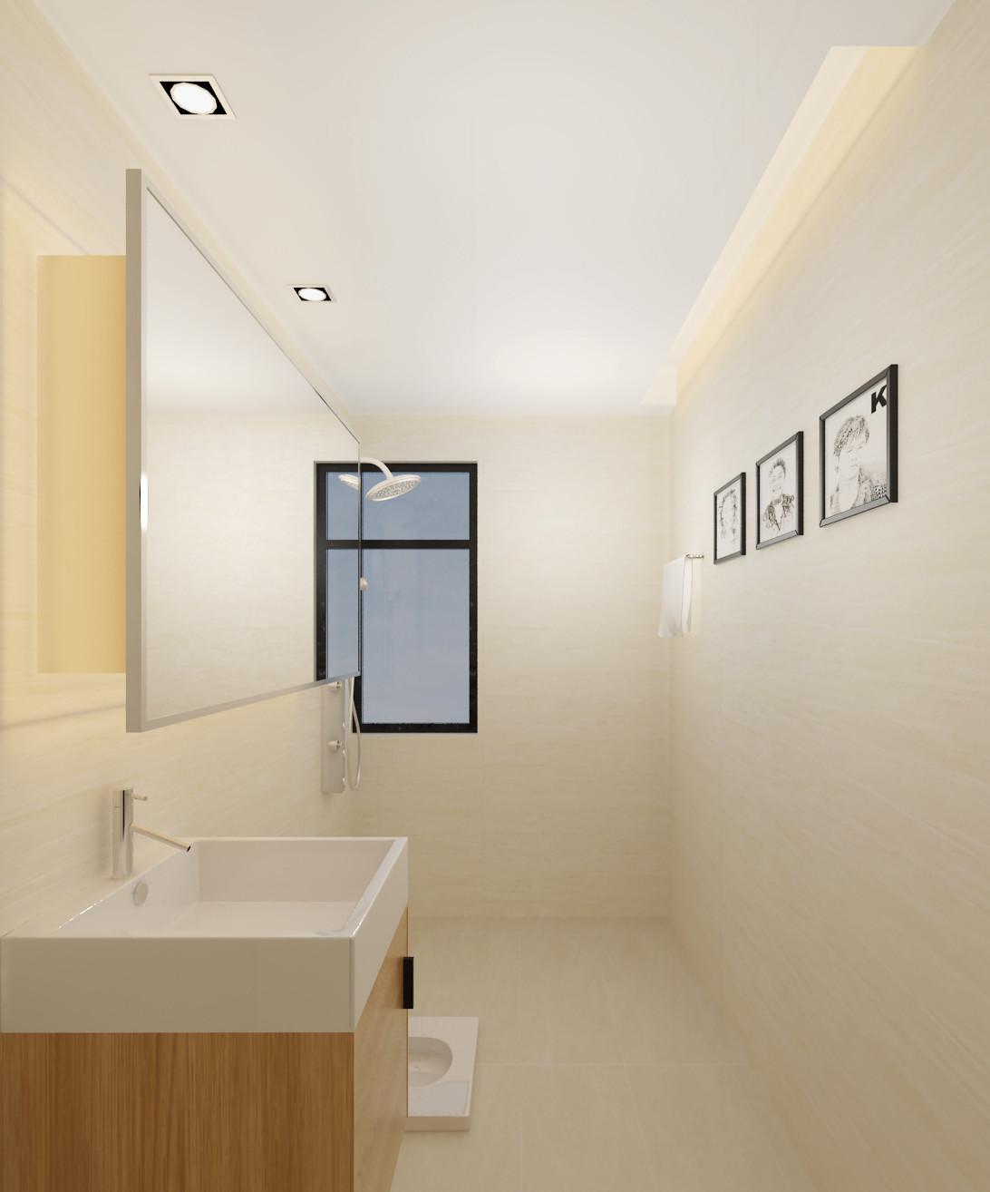 简约中式装修洗手台图片