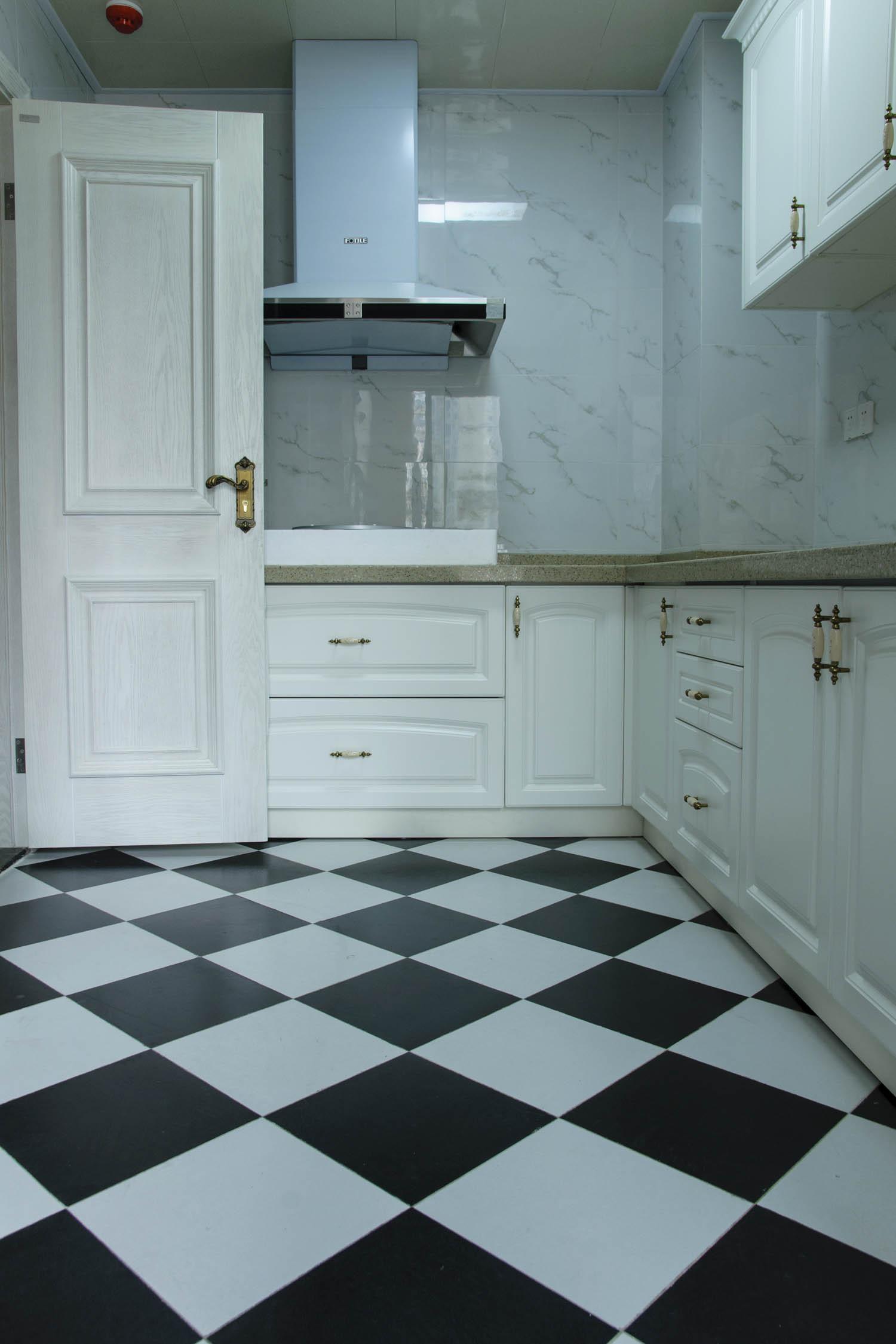 150㎡美式三居装修厨房搭配图