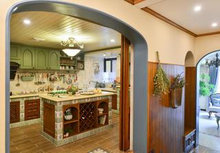 田园别墅装修厨房构造图