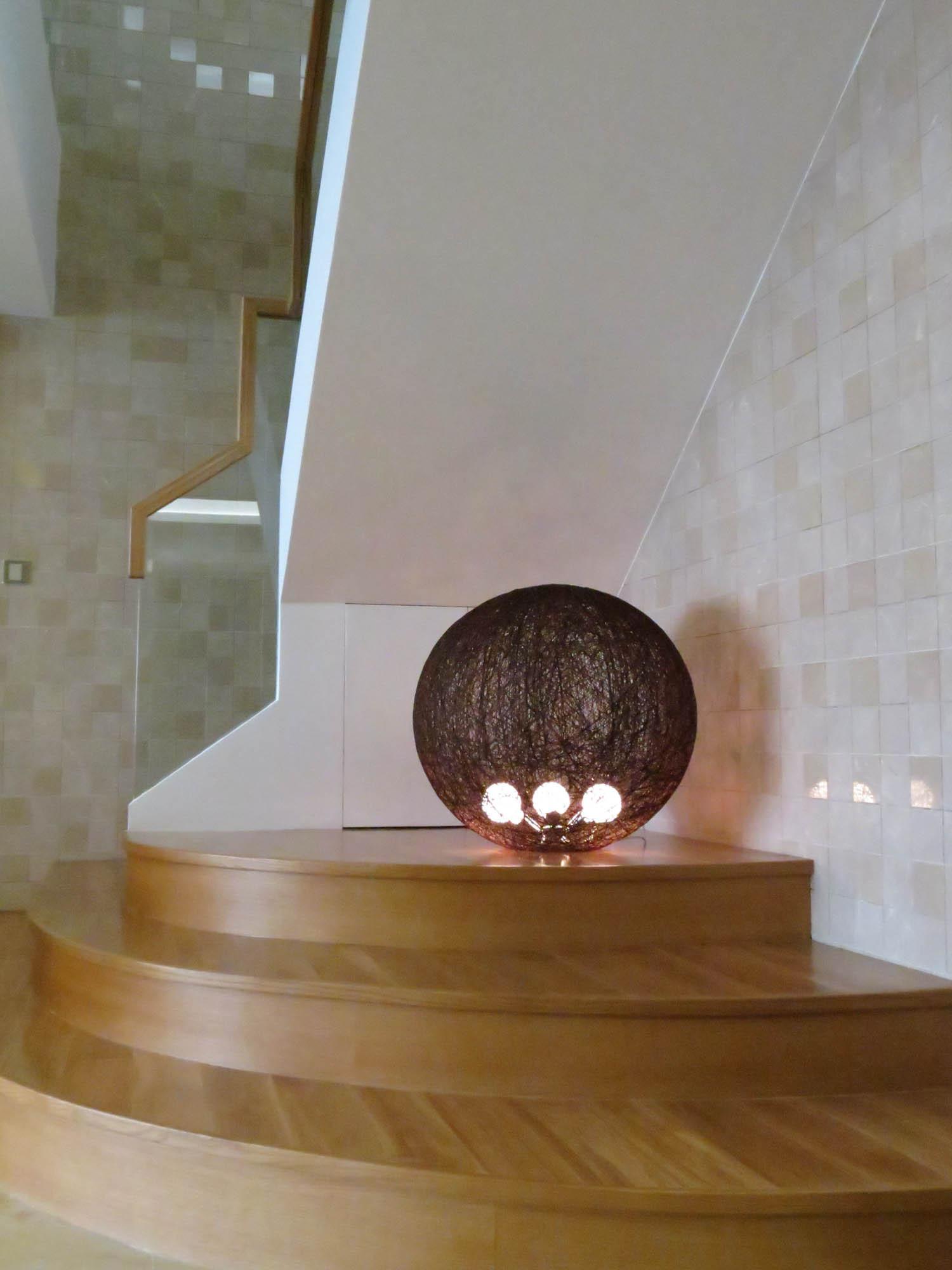 现代简约复式装修楼梯间造型图