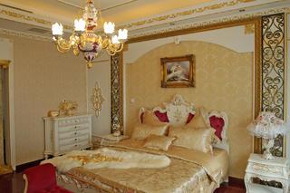 欧式奢华风格别墅装修卧室效果图