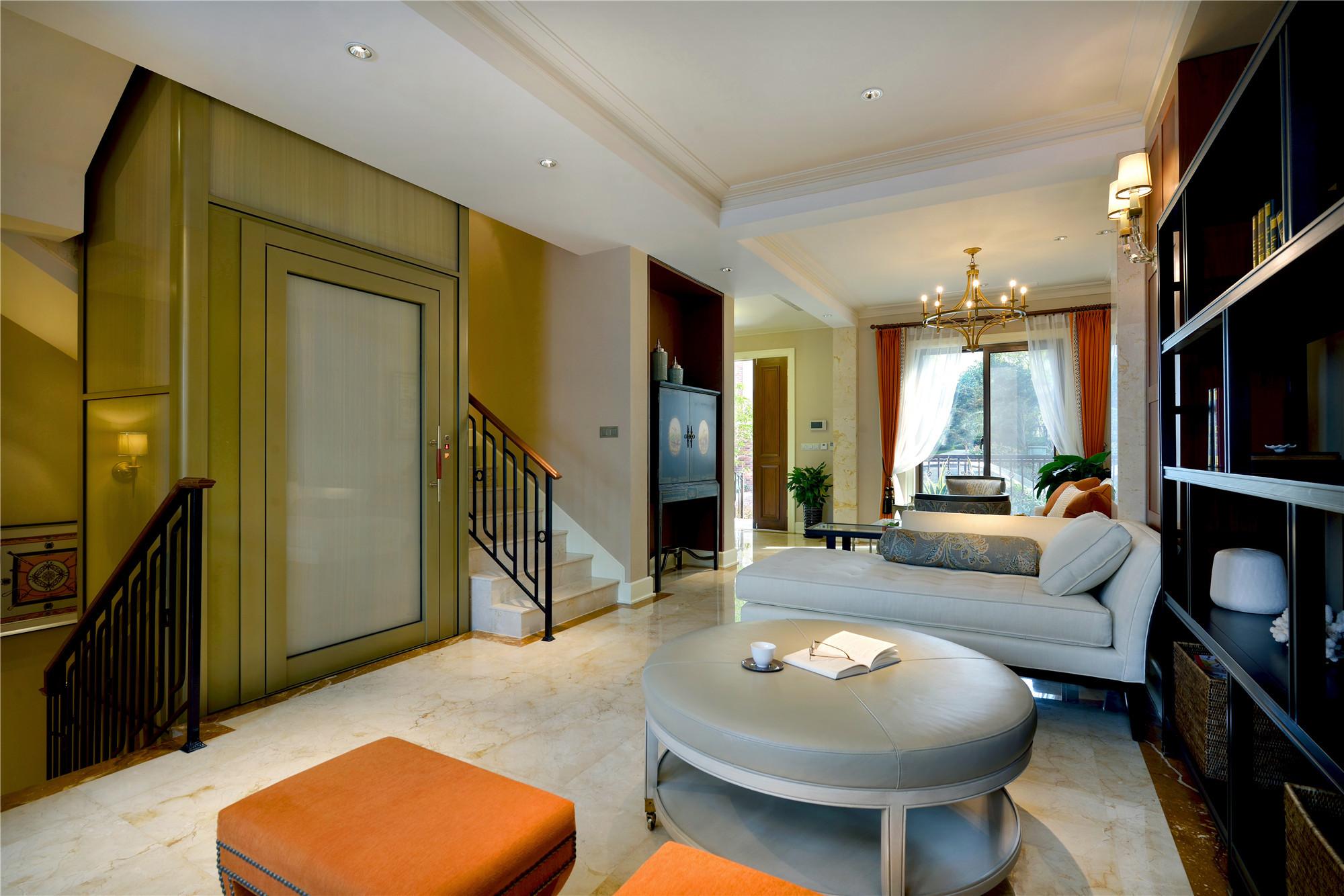 现代风格别墅装修起居室设计图