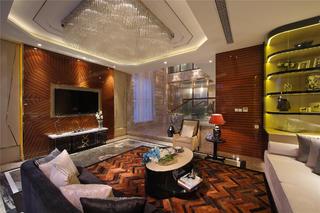 现代新古典别墅装修起居室设计图