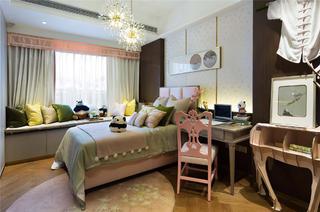 新中式别墅装修卧室布置图