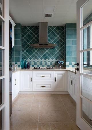 简美复式装修厨房布局图