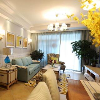 轻美式三居装修设计 色彩美家