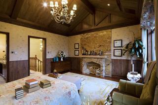 美式田园别墅装修造型壁炉设计
