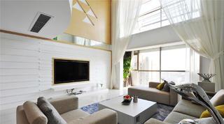 现代风格别墅装修电视背景墙图片